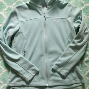 Light blue Columbia Fleece Jacket size Large